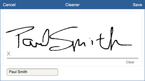 Cleaning Inspection Digital Signatures