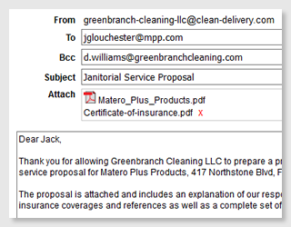 Janitorial Bidding Software Email Attachments Cleanbid